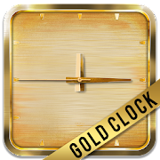 Neon Gold Square Clock