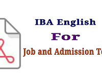 IBA English For Job and Admission Test - PDF Download