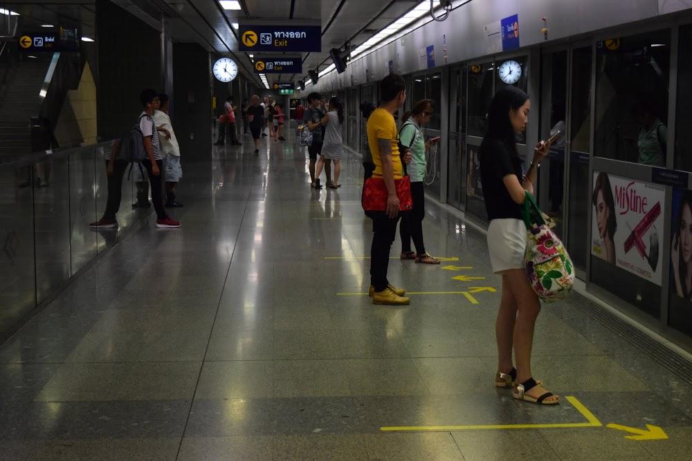 Lumphini subway station...