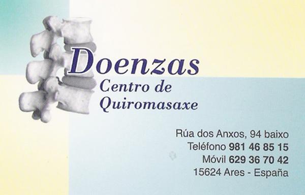 Doenzas. Centro de Quiromasaxe, colaborador coa A.D.R. Numancia de Ares.