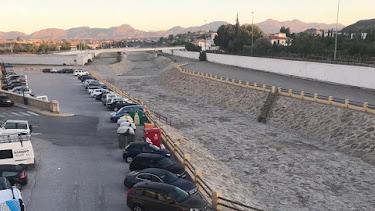 Imagen difundida por el alcalde en su Facebook de la zona de la rabla con hormigón.