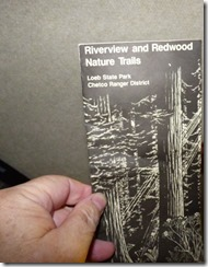 Brochure for the Redwood and Riverview Trails, Alfred A Loeb State Park, Brookings OR