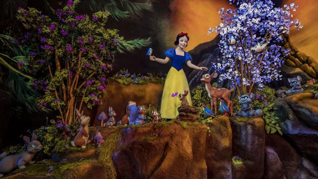 Sneak peek at Snow White's garden from Snow White's Enchanted Wish