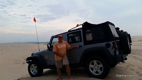 Tom with his Jeep