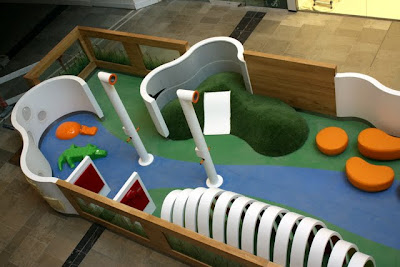 Children's play area at the Westfield Stratford City shopping center in east London