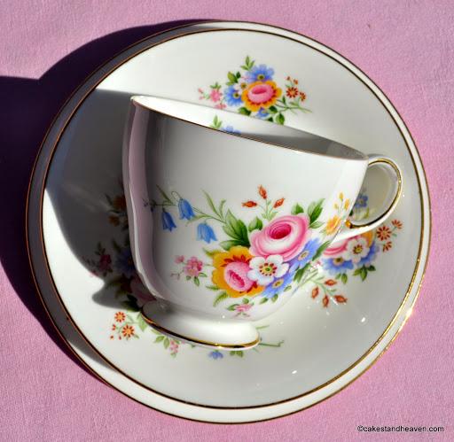 Paragon 1960s beautiful floral teacup trio