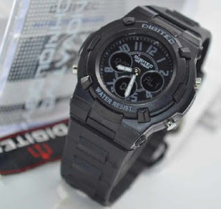 jam tangan Digitec ladies 3020T black rubber Grey