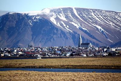 Cityscape of Reykjavik Iceland