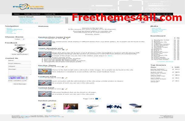 Free Phpfusion Technology Blog Theme