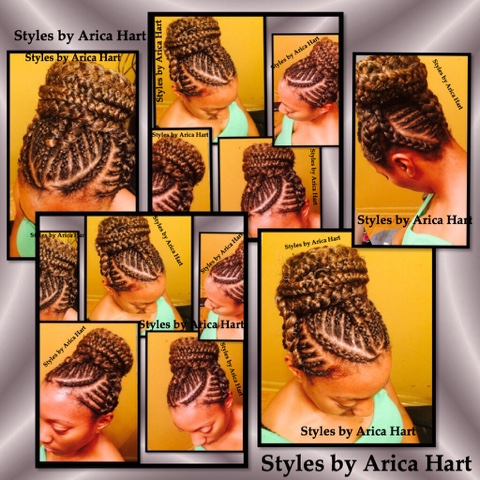 Braids , protective styles , image , black hair , updo  , blog , hair styles