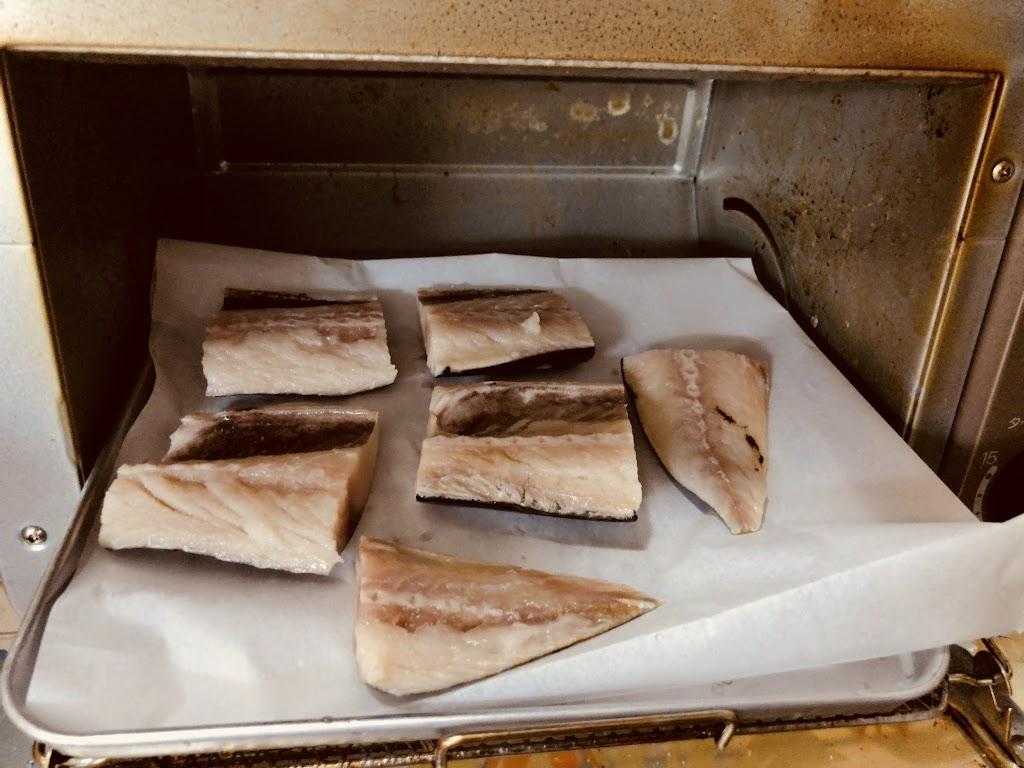 オーブントースターで魚焼きの方法