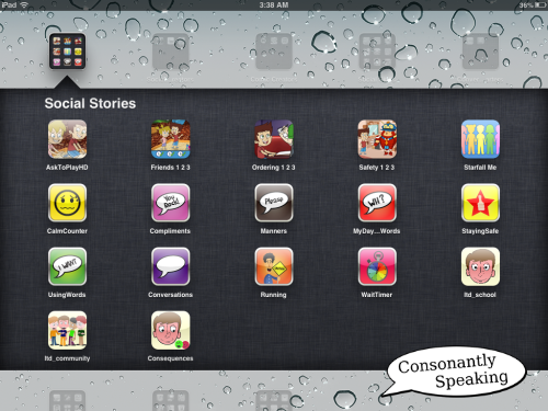 Consonantly Speaking Social Story Apps