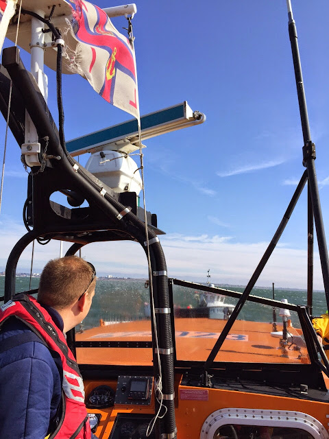 ALB training exercise to casualty onboard a fishing vessel - 19 April 2015.  Photo credit: Oli Mallinson, RNLI Poole