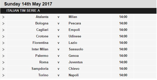 Serie%2BA%2Bschedule%2B36 Planning a Football Trip to Italy - SERIE A FIXTURES 2016/17
