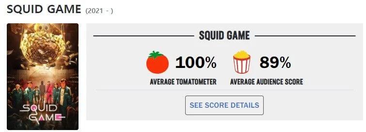 Theqoo Netflix S Drama Squid Game Score On Rotten Tomato Pann좋아