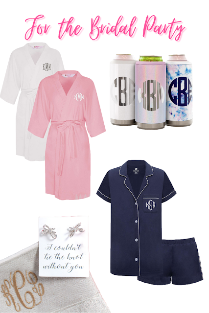 Monogrammed Gifts for the Bridal Party