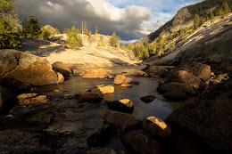 The cascades below Merced Lake