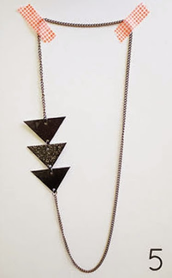 Passar triângulos na corrente