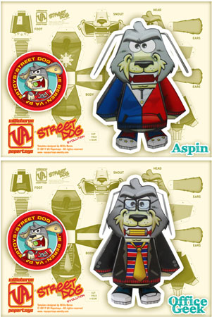 Street Dog Evolution Paper Toy Aspin