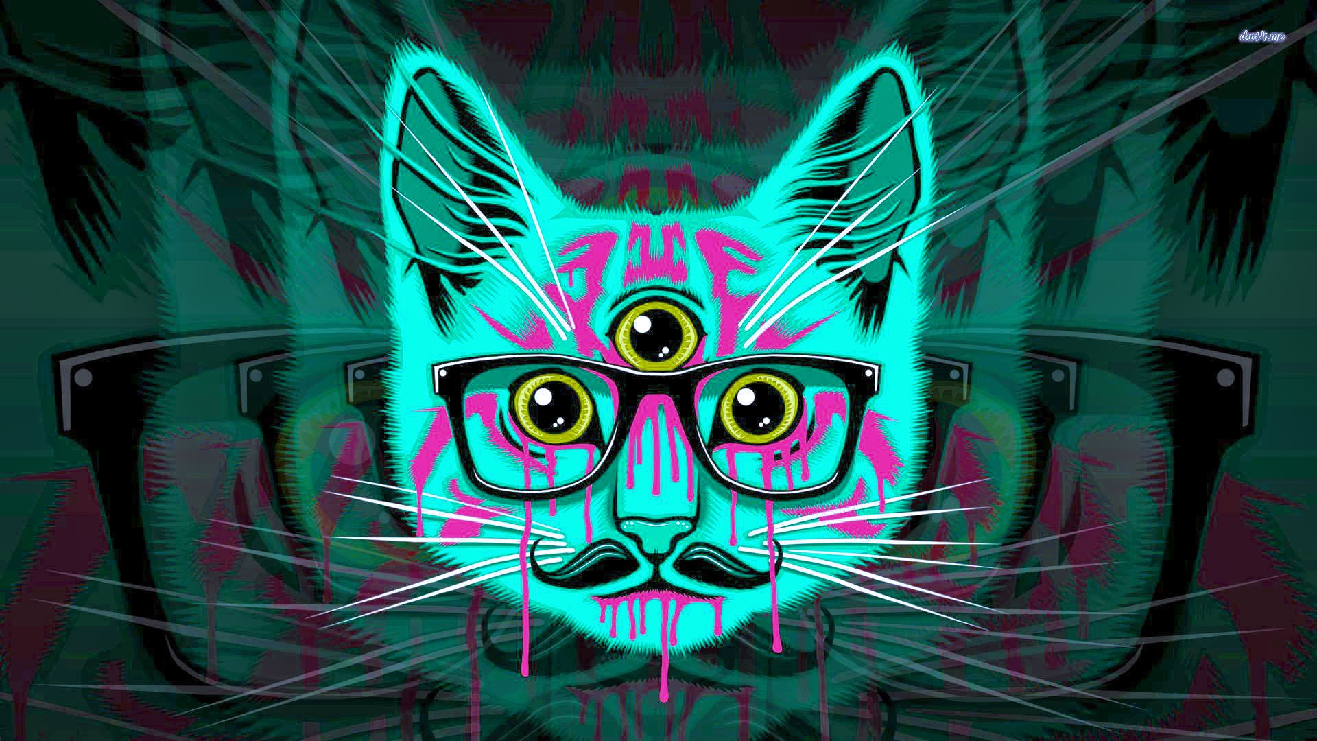 Psychedelic Hipster Cat bass gang Google