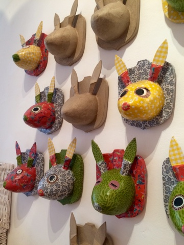 Getting Ready for Easter - Spring Craft Special! Paper Mache Bunny trophy heads