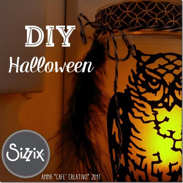 Lanterna per Halloween riciclando un barattolo di vetro
