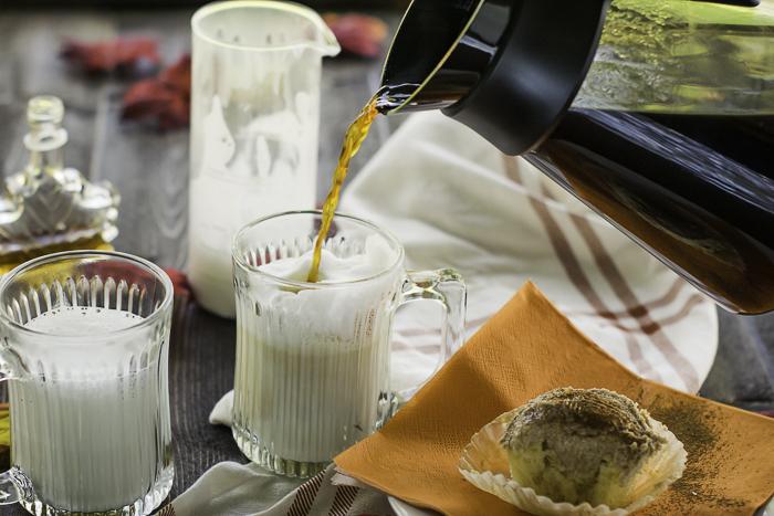 Espresso or coffee Latte Macchiato
