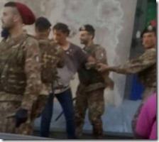 Il marocchino fermato dai militari