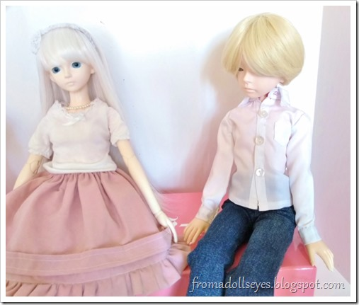 Yuki is staring at the skirt, he looks confused.