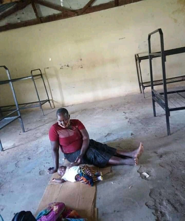 A mother of one year old baby in quarantine in Busia