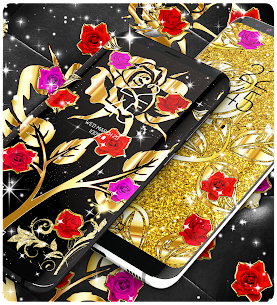 Gold rose live wallpaper Apk Download For Android 5