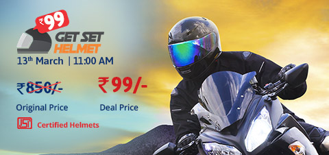 (Register Now) Droom Helmet Flash Sale - Buy Helmet worth Rs.950 at Just Rs.99 Only
