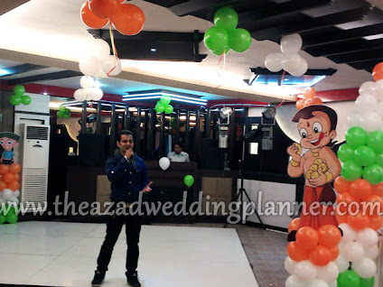 Chota Bheem Themed Birthday Party Decoration in Hotel Orbit