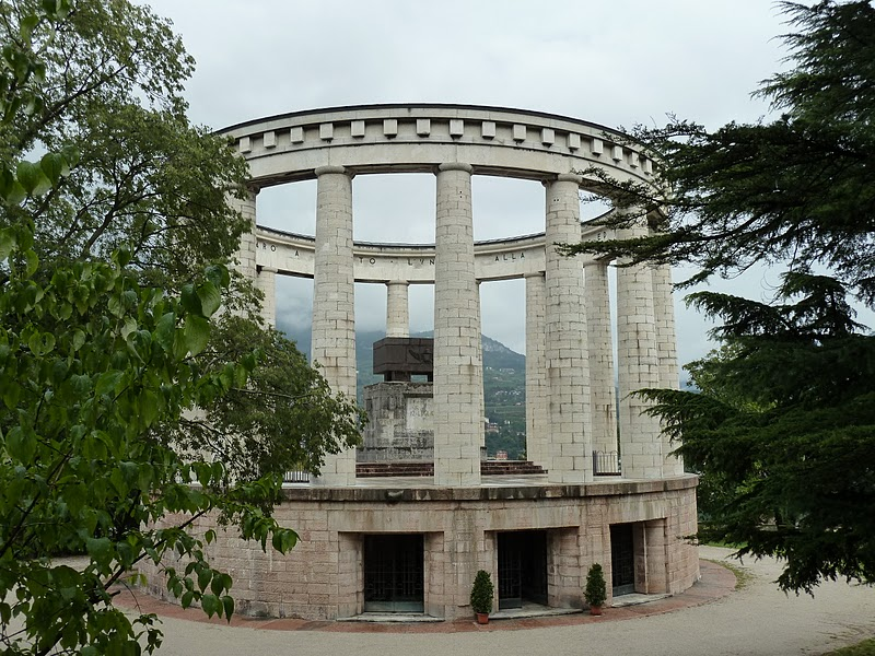 View of the entrance of the memorial - Trento, Italy