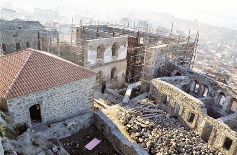 Near East: Greek Byzantine monastery restoration nears end