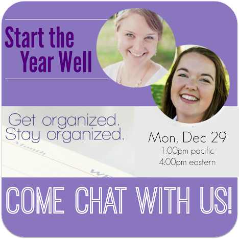 chat about organization with Mystie & Sarah