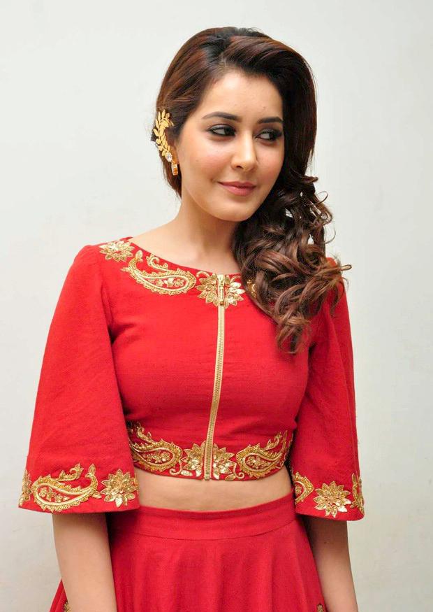 Rashi Khanna hot Red Photos