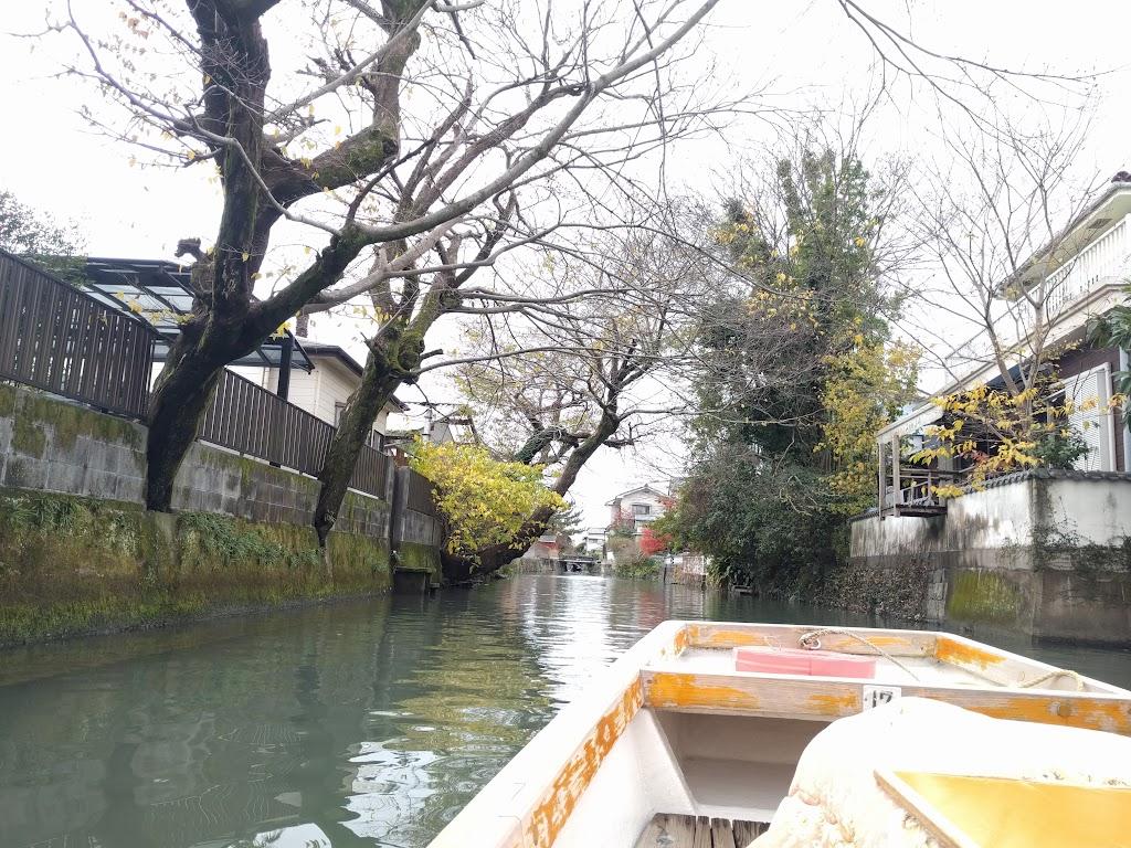 柳川の川下り風景