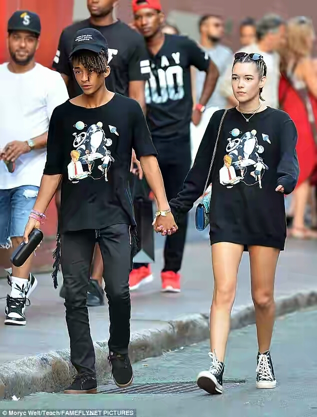 Jaden Smith & Girlfriend Step Out In Matching Outfits