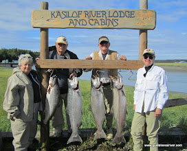 Photo: A much deserved limit of Kasilof kings caught in July 2010.