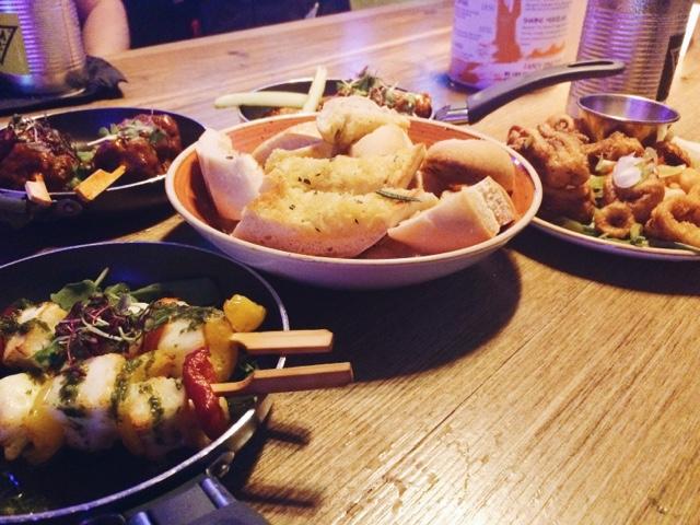 Food at Gem LDN Soho