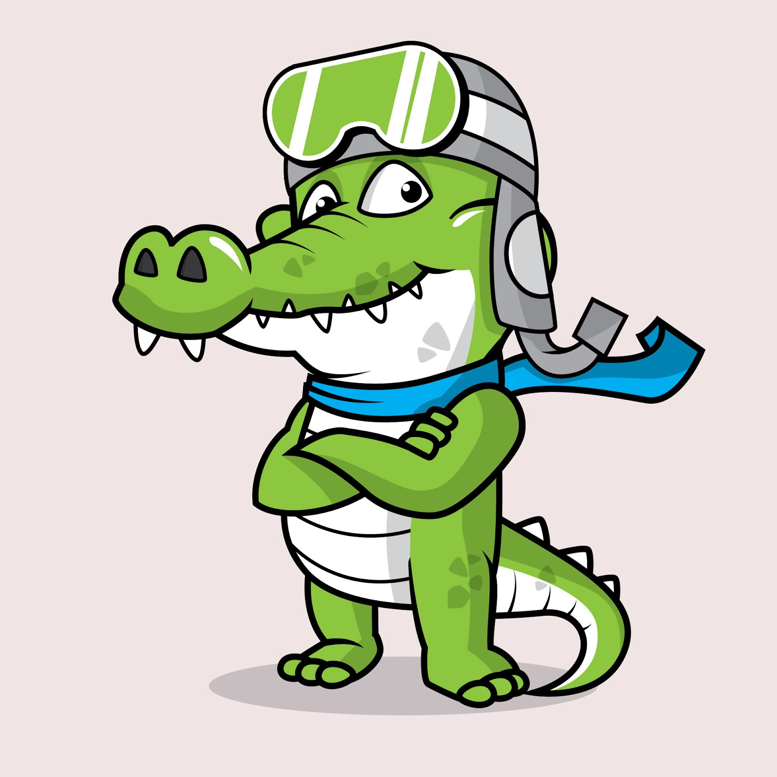 Crocodile Mascot Logo Free Download Vector CDR, AI, EPS and PNG Formats