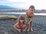 Mollie and Josh on the beach