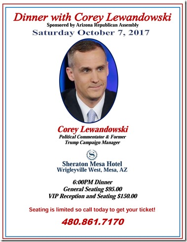 Dinner with Corey Lewandowski