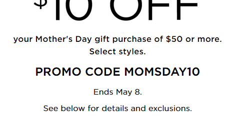 Kohl s coupon 10 off 50 mother s day gifts kohl 39 s for Kohls fine jewelry coupon