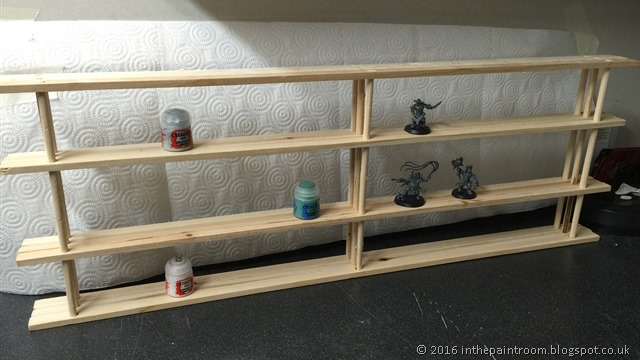 Super Cheap Citadel Paint and Games Workshop model rack by @danielrmitchell