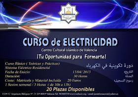 Curso Electricidad. Centro Cultural Islámico de Valencia
