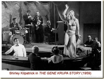 Shirley Kilpatrick in THE GENE KRUPA STORY (1959) still