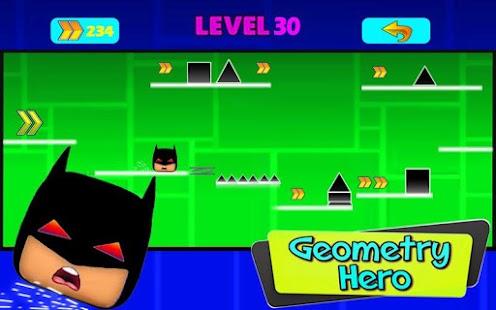Geometry Bat Dash Game - náhled