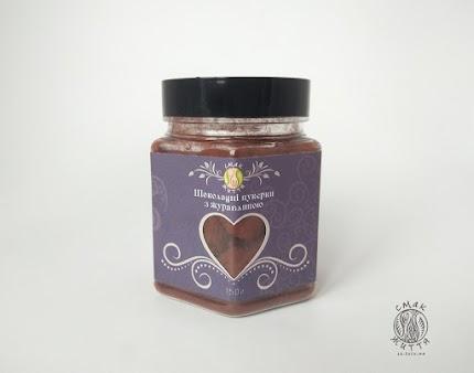 Цукерки шоколадні з журавлиною